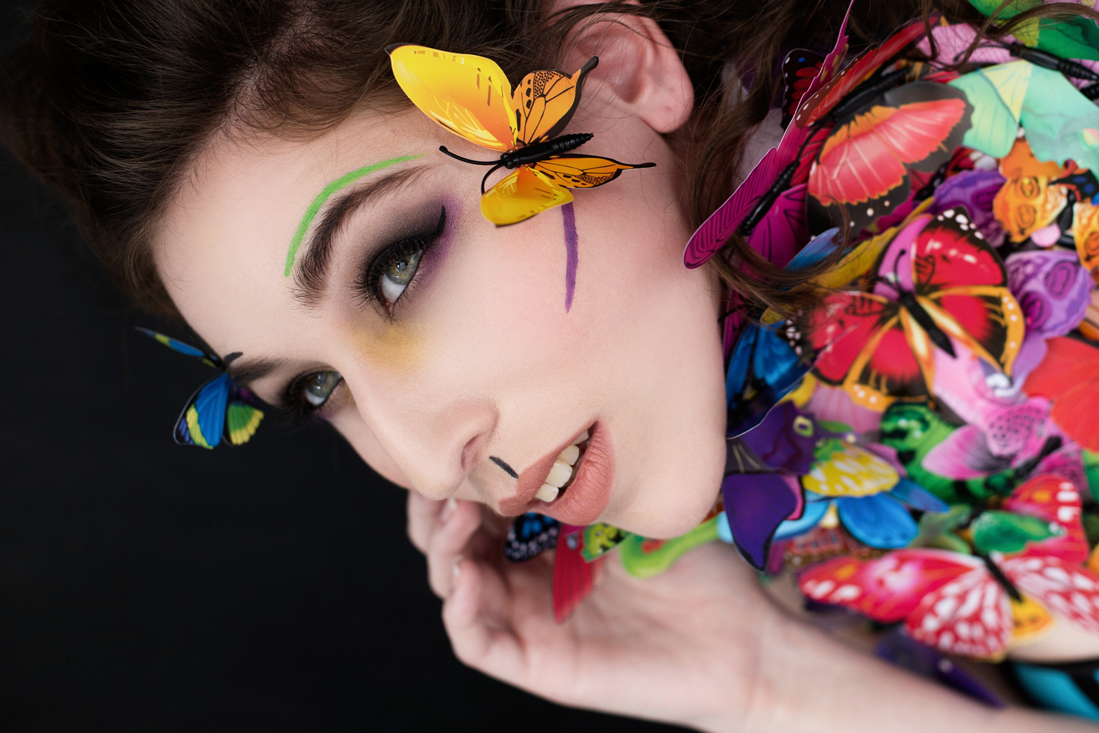 yuliya rae seattle fashion portrait creative photographer butterfly chrysalis